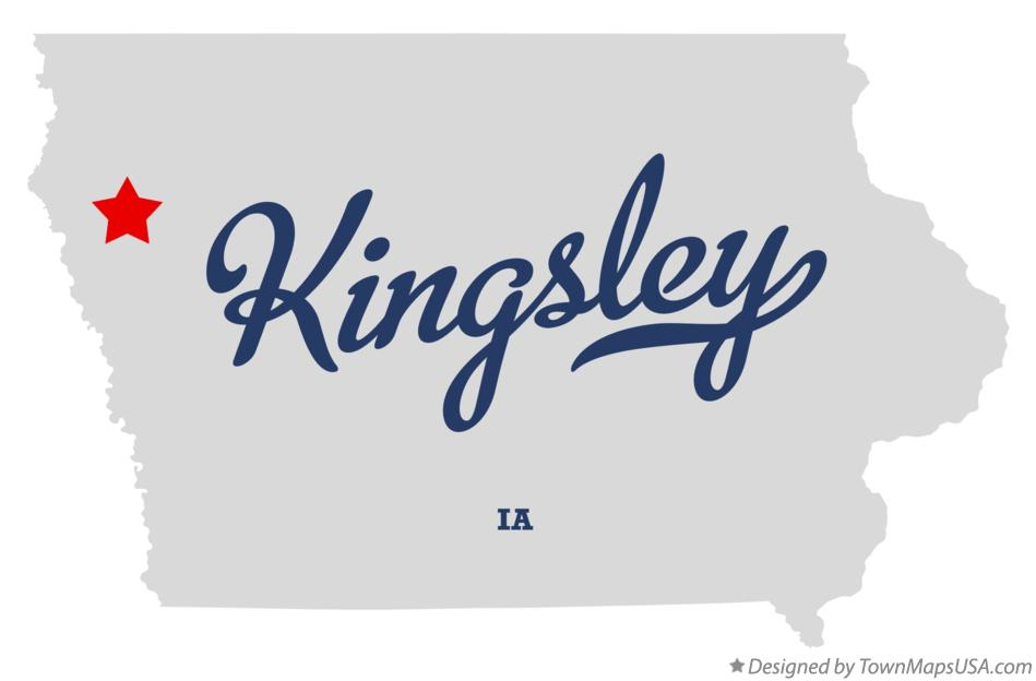 map_of_kingsley_ia